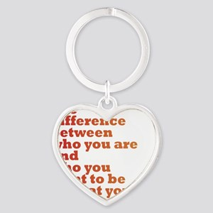 The Difference (red/orange) Heart Keychain