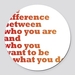 The Difference (red/orange) Round Car Magnet