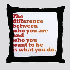 The Difference (red/orange) Throw Pillow