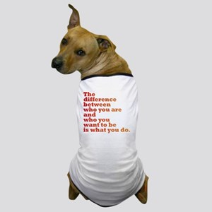 The Difference (red/orange) Dog T-Shirt