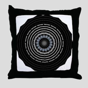 Funky Black White Artwork Designer Throw Pillow