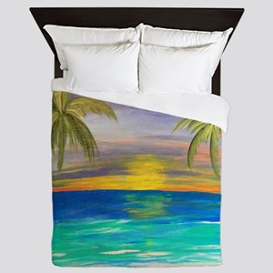 Tropical Sunset Queen Duvet