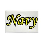 Yellow and Black Navy Rectangle Magnet (10 pack)
