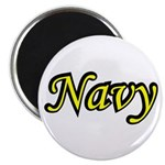 Yellow and Black Navy Magnet