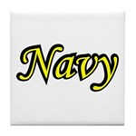 Yellow and Black Navy Tile Coaster