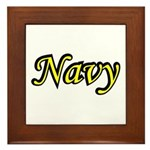 Yellow and Black Navy Framed Tile