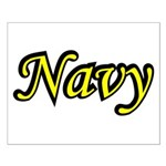 Yellow and Black Navy Small Poster