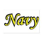 Yellow and Black Navy  Mini Poster Print