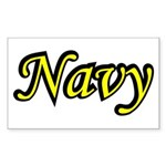 Yellow and Black Navy Rectangle Sticker