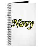 Yellow and Black Navy Journal