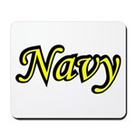 Yellow and Black Navy Mousepad