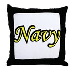 Yellow and Black Navy  Throw Pillow