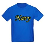 Yellow and Black Navy Kids Dark T-Shirt