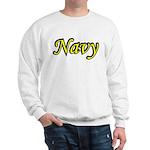 Yellow and Black Navy Sweatshirt