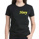 Yellow and Black Navy Women's Dark T-Shirt