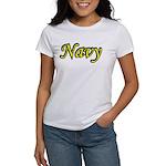 Yellow and Black Navy Women's T-Shirt