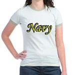 Yellow and Black Navy Jr. Ringer T-Shirt