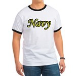Yellow and Black Navy Ringer T