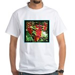 Hawaiian Torch Heliconia lower White T-Shirt