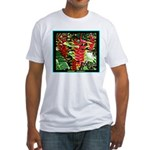 Hawaiian Torch Heliconia lower Fitted T-Shirt