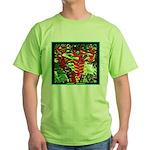 Hawaiian Torch Heliconia lower Green T-Shirt