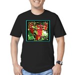 Hawaiian Torch Heliconia lower Men's Fitted T-Shir