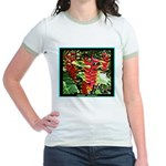 Hawaiian Torch Heliconia lower Jr. Ringer T-Shirt