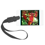 Hawaiian Torch Heliconia lower Large Luggage Tag