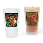 Hawaiian Torch Heliconia lower Drinking Glass