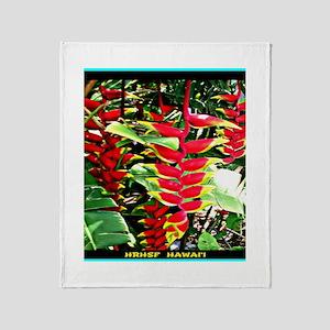 Hawaiian Torch Heliconia lower Throw Blanket