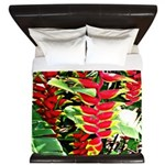 Hawaiian Torch Heliconia lower King Duvet
