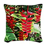 Hawaiian Torch Heliconia lower Woven Throw Pillow