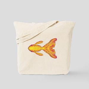 Gold Fish Sketch Tote Bag