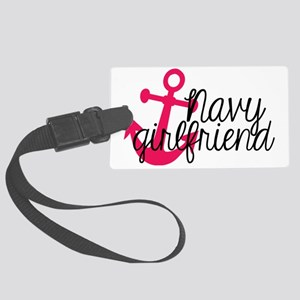 Navy Girlfriend Large Luggage Tag