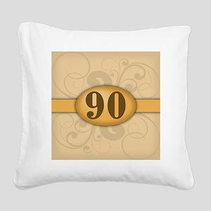 90th Birthday / Anniversary Square Canvas Pillow