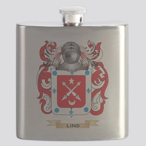 Lind Coat of Arms - Family Crest Flask