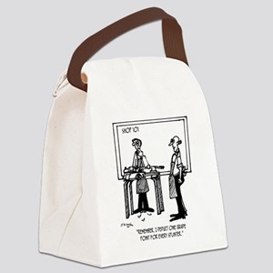 Deduct From Grade For Every Splin Canvas Lunch Bag