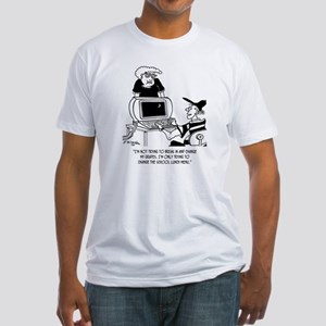 Hacking into School Menu Fitted T-Shirt