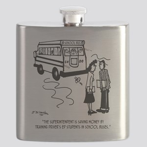 Drivers Ed Uses a School Bus Flask