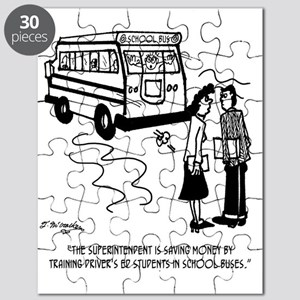 Drivers Ed Uses a School Bus Puzzle