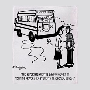Drivers Ed Uses a School Bus Throw Blanket