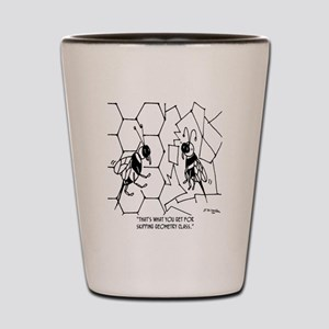 Bee Skips Geometry Class Shot Glass