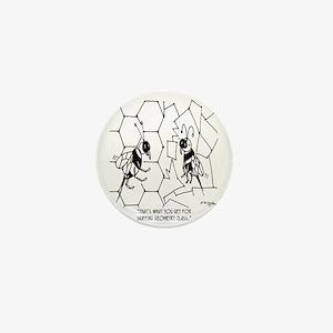 Bee Skips Geometry Class Mini Button