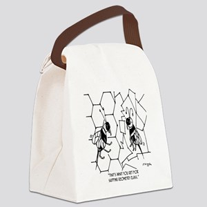 Bee Skips Geometry Class Canvas Lunch Bag