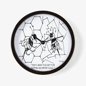 Bee Skips Geometry Class Wall Clock