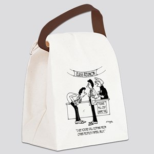Cheating at School Reunion Canvas Lunch Bag