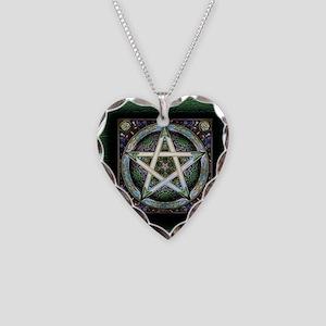Pentagram Necklace Heart Charm