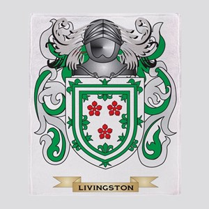 Livingston Coat of Arms - Family Cre Throw Blanket