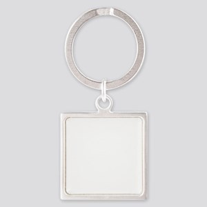 Geocaching symbol distressed Square Keychain