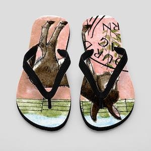Vintage 1995 Switzerland Donkey Postage Flip Flops